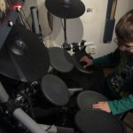 Mattias and the electric drum set
